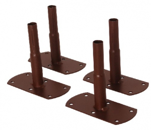 Pack 4 pieds pour Pergola métallique- couleur fer