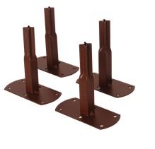 Pack 4 pieds - Pergola métalliquetubes carrés - Fer