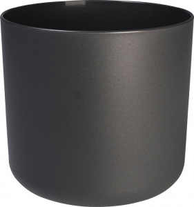 Cache-pot B.for Soft rond - Elho - gris anthracite - 14 cm
