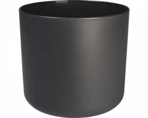 Cache-pot B.for Soft rond - Elho - gris anthracite - 25 cm
