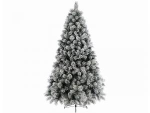 Sapin Vancouver - Enneigé - 800 branches - Vert/blanc - Ø 132 cm - 210 cm
