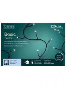 Guirlande lumineuse - Blanc froid - LED- 9 m - Câble noir