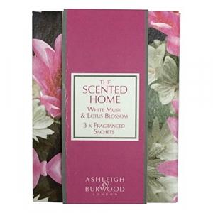 Sachets parfumés pour maison - The scented home - Ashleigh & Burwood - Musc blanc et fleur de lotus - x3