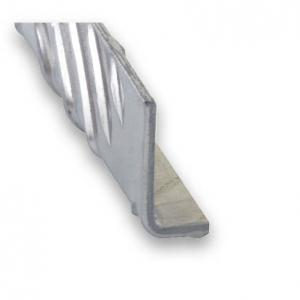 Cornière damier aluminium brut CQFD - 25x40 L 1m