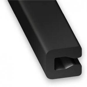 Profilé U entourage tôle PVC noir CQFD - 7x4x0.6 L 1m