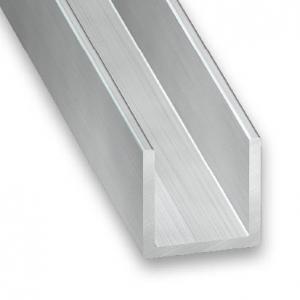 Profilé U aluminium CQFD - 15x15x1.5 L 2m