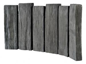 Bordurette courbe anthracite schiste Hairie Grandon 52 x 26 cm