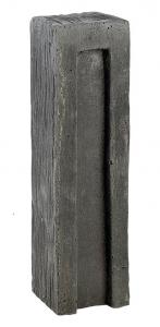 Bloc droit aspect schiste ton ardoise Hairie Grandon 7.8 x 7.8 x 29 cm