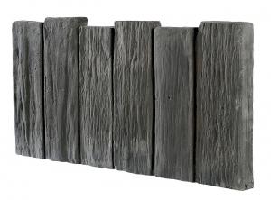 Bordurette droite aspect schiste ton ardoise Hairie Grandon - 50 x 26 x 2,8 cm