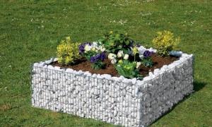 Gabion jardinière carrée - Penez Herman - 120x120xH40