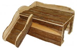 Maison en bois avec rampe pour lapin toy - Rongis