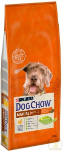 Croquette pour chien Adult mature - Dog Chow - poulet - 14 kg
