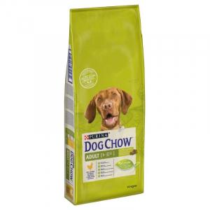 Croquette pour chien adult 1+ - Dog Chow - poulet&riz - 14 kg