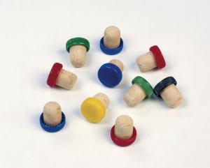 Bouchon liège tête plastique - Duhalle - Multicolores - Lot de 10