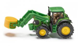 Tracteur John Deere avec pince à balles - Siku - 1/64