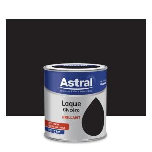 Peinture Laque Glycéro - Astral - Brillant - Noir - 0.5 L