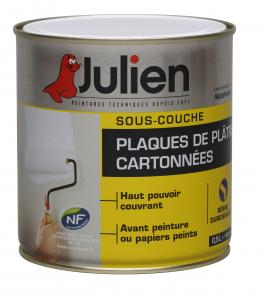 Peinture sous couche  pour plaques de plâtres cartonnées - Peintures Julien - 0.5 L