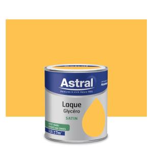 Peinture Laque Glycéro - Astral - Satin - Jaune - 0.5 L