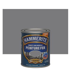 Peinture spéciale fer forgé - Hammerite - Gris zinc - 0.75 L