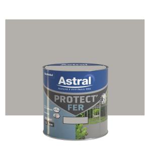 Peinture Protect'Fer - Astral - Brillant - Gris acier - 0.5 L