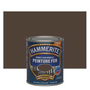 Peinture spéciale fer forgé - Hammerite - Châtaigne - 0.75 L