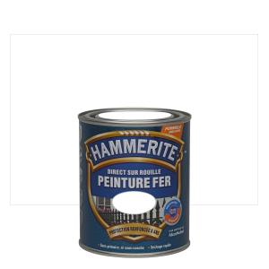 Peinture spéciale fer forgé - Hammerite - Blanc - 0.75 L