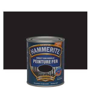 Peinture spéciale fer forgé - Hammerite - Noir - 0.75 L
