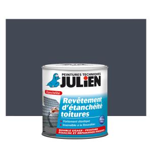 Revêtement d'étanchéité toitures - Peintures Julien - Gris argent - 2.5 L