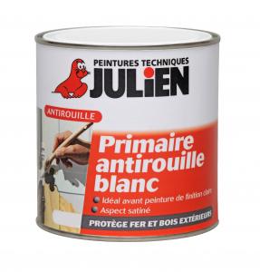 Peinture primaire antirouille Blanc - Peintures Julien - 0.25 L