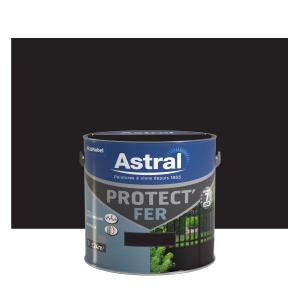 Peinture Protect'Fer - Astral - Brillant- Noir mat  - 2 L