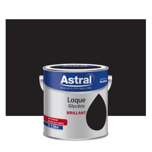 Peinture Laque Glycéro - Astral - Brillant - Noir - 2 L