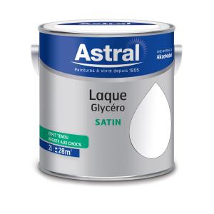 Peinture Laque Glycéro - Astral - Satin - Blanc - 2 L