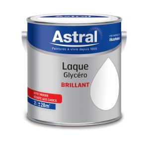 Peinture Laque Glycéro - Astral - Brillaant - Blanc - 2 L