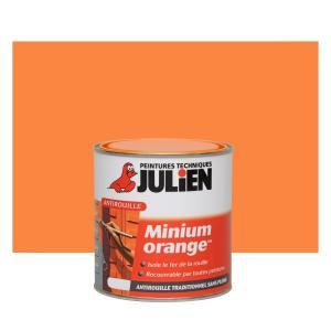 Peinture anti rouille - Peintures techniques Julien - Minium Orange - 0.25 L