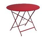 Table pliante Bistro - Fermob -  96 cm - Rouge Piment