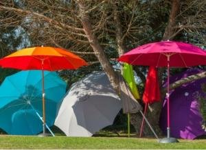 Parasol rond droit - Océo - Ø 180 cm - Couleur assortie