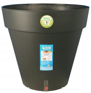 Pot de fleurs Loft rond - Riviera System - Noir - ∅ 40 x 36 cm