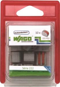 Pack 10 bornes 2 entrées x 2.5 mm² - Wago