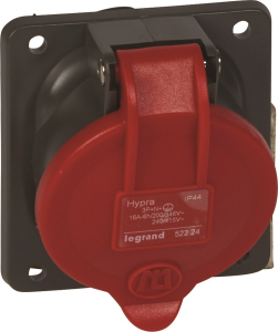Prise fixe Hypra IP44 16A - Le Grand - 380V~ à 415V - 3P+N+T - En plastique