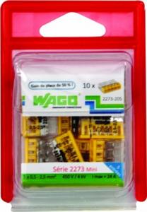 Pack 10 bornes 5 entrées - Wago