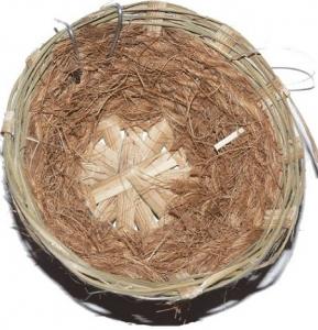 Nid en osier et fibre de coco pour canaris - Benelux - 11 x 10 x 6,5 cm