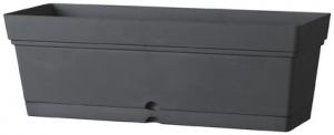 Jardinière Samba - Deroma - anthracite - 50x17,5x17,2 cm