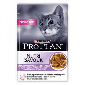 Effilés en sauce pour chat Delicat Nutrisav - Proplan - dinde - 85 gr