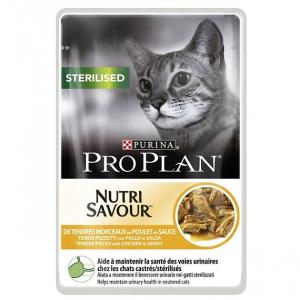 Effilés en sauce pour chat Sterilised Nutrisav - Proplan - poulet - 85 gr