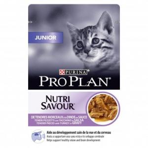 Effilés en sauce pour chaton Junior Nutrisav - Proplan - dinde - 85 gr