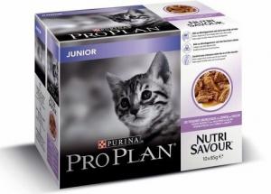 Effilés en sauce pour chaton Junior Nutrisav - Proplan - dinde - 10x85 gr