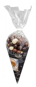 Cornet de billes de céréales enrobées aux 3 chocolats - Maison Taillefer - 140 gr