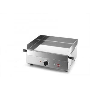 plancha electrique 415 x 395 mm - 1800 W - 230 V - châssis et plaque de cuissoninox - thermostat réglable