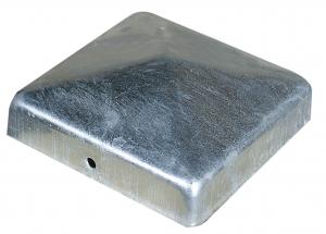 Tête de poteau Pyramide Galva diamantmétal - 9 x 9 cm - x 2