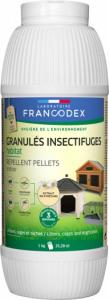 Granulés insectifuges habitat - Francodex - Pour litières, cages, niches, poulaillers - Pot de 1kg